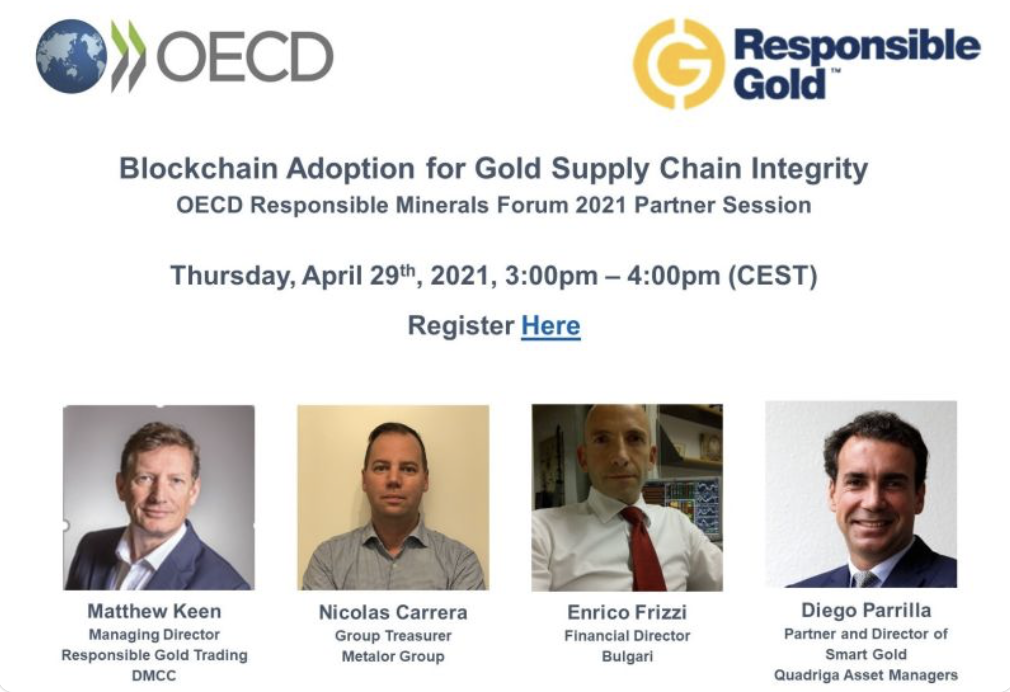 OECD : Blockchain Adoption for Gold Supply Chain Integrity